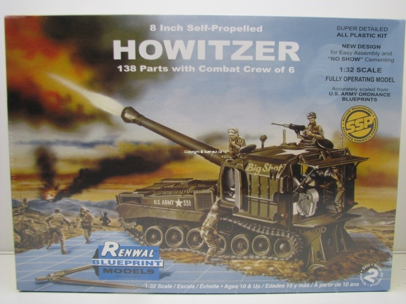 Self-Propelled 8 Inch Howitzer 1:32 Revell